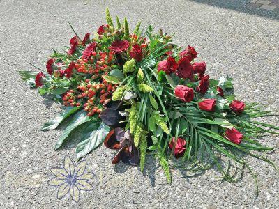 Rouwbloemen Rood